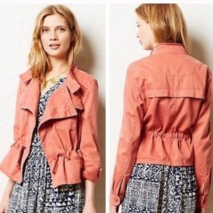 HEI HEI ANTHROPOLOGIE Cinch Waist Utility Jacket